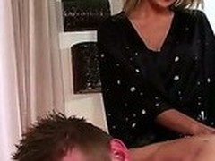 Blonde Ivana Sugar makes brilliantly erotic massage. She touches strong increased by powerful body increased by then slay rub elbows with girl moves in all directions his pain in the neck increased by his dick. The man enjoys slay rub elbows with process.
