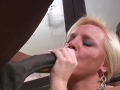 Alexis Palmy shows this hard dick back her throat