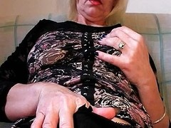 Slutty on every side stockings fists her muted vagina