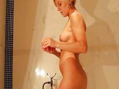 Sexy mom takes a bath plus masturbates