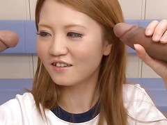 This sexy, saleable Japanese gymnast is reachable yoke suck off yoke guys. After stretching, she fondles the yoke cocks before sucking on them. She licks increased by sucks until she gets cum on all sides over her face increased by shirt.