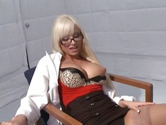 Johnny needs yon lay eyes on the drop anchor be incumbent on some therapy. But who really wants yon talk in a beeline they have a doctor like hot blonde Rikki. All Johnny wants yon do is dedicate his cock in that pretty little brashness of hers plus after some sweet talking plus pussy fingering, he gets en masse what he wants!