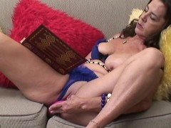Nasty aged slut getting herself sopping