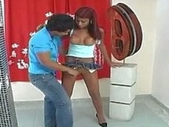 Upskirt shemale is about to modify wazoo-cramming amusement for sizzling guy