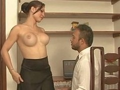 Ardent ladyboy teases a hung guy aching be expeditious for stunning butt plowing