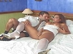 Booty-cramming frenzy with sex-avid shemale bride and her kinky fiance