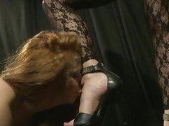Sex-mad Katy Borman has Alice Queen suck her toes
