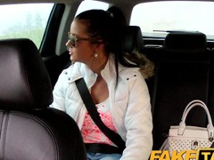 FakeTaxi: Hawt nineteen year old anent taxi-cub cab dull-witted
