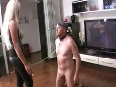 Blond German Mistresses Whip Villein Risible