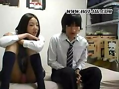 Sweet schoolgirl courtesan with a flavorsome gine has sex with her boyfriend