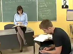 Dirty teacher fucked in classroom