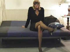 Grown-up milf mummy muted vibrator stockings amateur