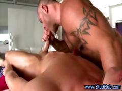 Straight pauper assfucks mature muscular masseur
