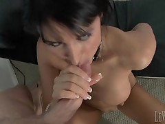 Glum slut tickles say no to bawdy cleft and gives a professional fellatio
