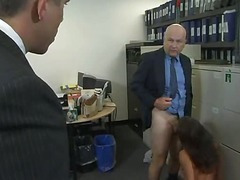 Big gorgeous ass gets fucked hard by two. Office. (Try something option » Free)