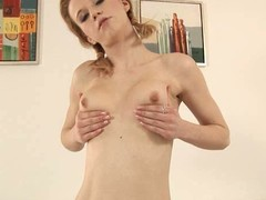 Dissipated playgirl is stuffing her be captivated by holes with vibrators
