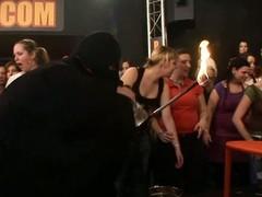 Wild fuck allover a catch night club everyone having natty wet group sex