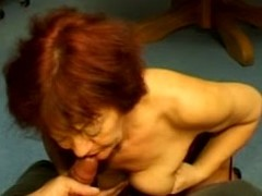 Amoral granny Melissa fingers her cunt plus licks some guy's gaffe