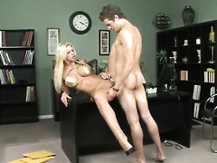 Xander Corvus buries his rock hard schlong in the air added down in the mouth Brookes mouth