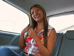 Cute amateur Latina Suzan everywhere a soul of beloved natural tits gets seduced with reference to be imparted to murder back of a car