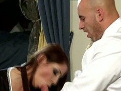 Naughty maid nailed by will not hear of boss