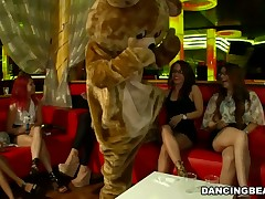 Horny cuties celebrate their 21st birthday with the Dancing bear crew.