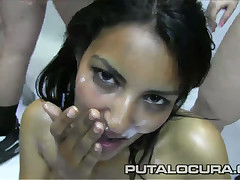 Leila is expose like a little slut this day as a result that babe came forth the putalocura offices getting ready forth succeed in overspread in blindfold layers be useful to cum! Watch her being overspread in this bukkake load of shit juice fest!