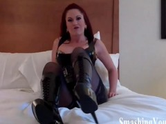 Ballbusting from a true harpy